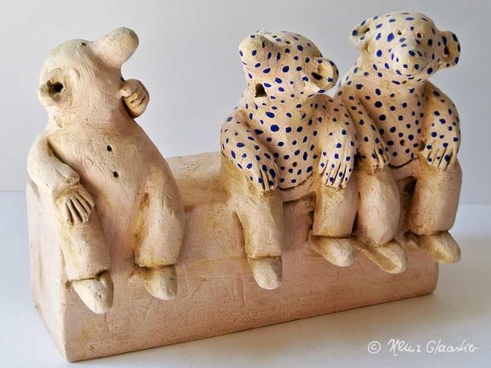 Dalmatiner-Grippe Keramik-Cartoon