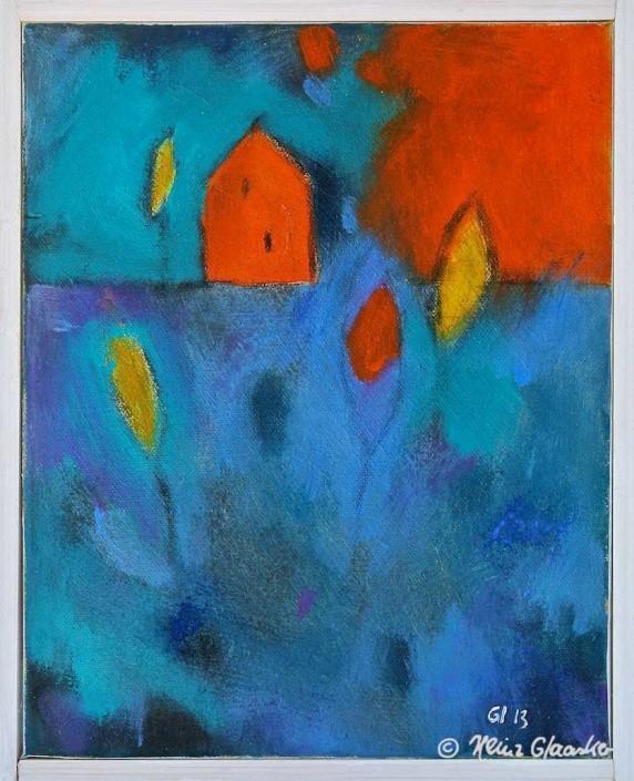 Acrylbild Heinz Glaasker Blaues Feld