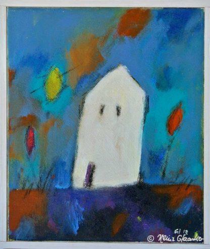 Acrylbild Heinz Glaasker Weißes Haus allein