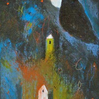 Acrylbild Heinz Glaasker Nacht in den Feldern