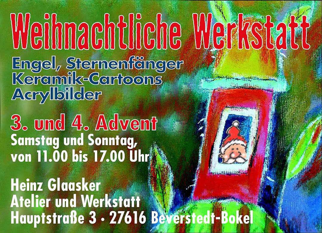 Offenes Atelier Weihnachtliche Werkstatt Heinz Glaasker